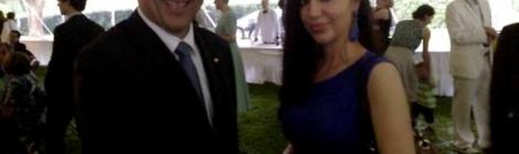 Francesca La Marca e ambasciatore Cornado