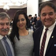 Con Rocco Grossi, consigliere della Federazione Laziale dell'Ontario, e il presidente, Gianni Mignardi