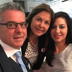 Con il Sindaco di Norcia, Nicola Alemanno e l'assessora alla cultura e Giuseppina Perla