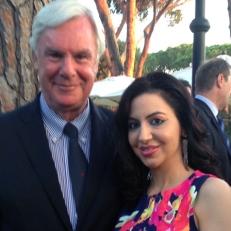 Con l'Ambasciatore canadese a Roma, Peter McGovern