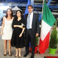 Con il Console Generale d'Italia Marco Riccardo Rusconi e Signora