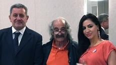 Con il Maestro della Corale Polifonica di Ercolano Domenico Cozzolino (a sinistra) e il segretario dell'associazione culturale campana Tony Marcantonio (Villa Colombo, Toronto).