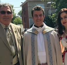 Con Padre Francesco e Michele Tatta dell'associazione jelsese di Montreal