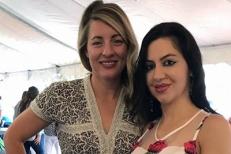 Con la ministra del patrimonio canadese, Mélanie Joly