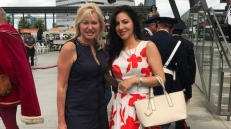 Con Bonnie Crombie, Sindaco di Mississauga, Ontario (Mississauga Celebration Square)