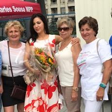 Con alcuni rappresentanti della comunità italiana di London (Ontario) nel corso dei festeggiamenti (Mississauga Celebration Square)