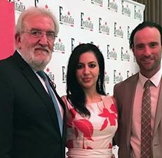 Con il Vice Console Onorario di Hamilton, Giuseppe Patricelli, e il Presidente esecutivo di Festitalia, Anthony Macaluso
