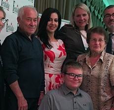 Con la famiglia del Vice Presidente di Festitalia, Pat Mostacci