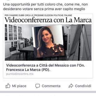 Videoconferenza con la comunità di Città del Messico