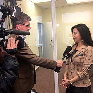 intervistata da @GNagliati per il telegiornale @OMNITelevision